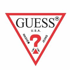 The guess logo is creative because of the question mark and triangle. Also I like that the word GUESS is a serif font and the rest of the words are in a sans serif font. Logo Psd, Logo Branding, Brand Stickers, Vans Logo, Famous Logos, Tumblr Stickers, Clothing Logo, Free Logo, Logo Images