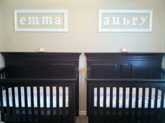 nursery at js house.. but the names are different one a boy and one girl