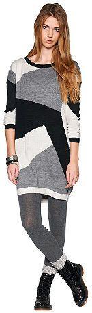 TOM TAILOR DENIM Kleid »patchwork knit dress 82cm«