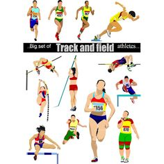 Track And Field Clipart Free Vector Clipartfest The Sporting Life, Yoga For Runners, Dynamic Stretching, Running Track, Running Drills, Pole Vault, Pista, How To Run Faster, Track And Field