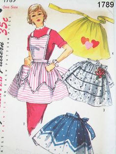 Vintage Apron Pattern  Simplicity 1789  by ThePatternSource, $20.00