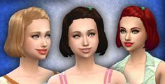 The Sims 4   My Stuff: Base Game Med Clipped Back Hairstyle Converted   new mesh hairs for female adult