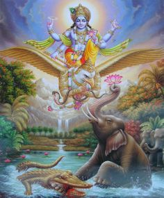 Vishnu governs the aspect of preservation and sustenance of the universe, so he is called 'Preserver of the universe'.