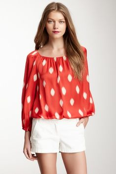 Water Drop Peasant Blouse by Vince Camuto on @HauteLook
