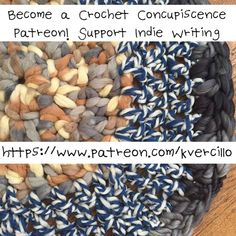 This crochet exercise is an excerpt from my book Hook to Heal. I am publishing it here in recognition of the amazing support I've received from my Patreon funders. Please consider micro-donating (as s