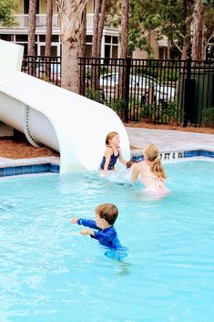 There are water slides for every age at Camp Watercolor, Florida. #campwatercolorflorida Us Beaches, Florida Beaches, Beach Vacation Spots, Watercolor Florida, Best Family Beaches, Florida Pool, Fort Walton Beach, Water Slides, Great Places