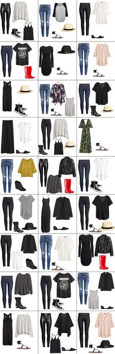 I went through my outfit of the day posts and compiled a round up of my capsule wardrobe outfits. I had to dig further to remember the outfits that I wore when I didn't take a picture.