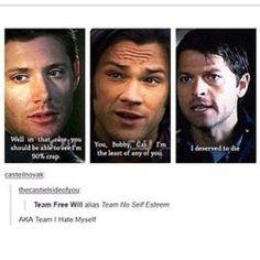 Supernatural Team No Self Esteem
