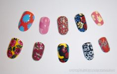 Fleury Rose nails inspired by Commes des Garcons