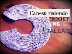 Canesú REDONDO a crochet: como tejerlo en TODAS LAS TALLAS (diestro) - YouTube