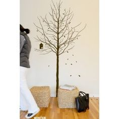 Blik Wall Decal - Seasons #blikwalldecals the tree comes with leaves and buds so you can adjust to each season.