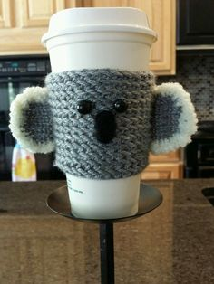 Koala Bear Kawaii bottle cup cozy Cuteness by GingerBreadSurprise