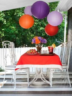The entertaining and decorating experts at HGTV.com share 13 backyards, patios and decks that are ready to party.