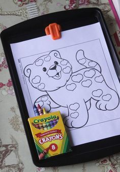Chalk, magnet, and coloring board all in one, this I HAVE to make.
