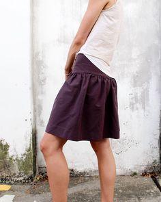 Cali Faye Collection: Basics drop skirt PDF sewing pattern for women. Modern Sewing Patterns, Sewing Patterns Girls, Sewing Ideas, Clothes Patterns, Sewing Tips, Sewing Hacks, Sewing Basics, Sewing For Beginners, Basic Sewing
