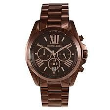 dc102b601026 Shop for Michael Kors Women's 'Bradshaw' Stainless Steel Brown Watch. Get  free delivery at Overstock - Your Online Watches Store!