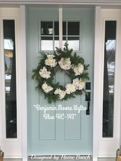 23 Trendy Ideas For Wythe Blue Front Door Colors Front Door Entryway, Grey Front Doors, Best Front Doors, Exterior Front Doors, Painted Front Doors, House Paint Exterior, Front Door Decor, Blue Doors, Exterior House Colors Grey