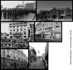 Jersey Then & Now on Liberation Day 1945