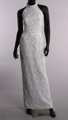 Vintage 1980's St. Tropez Beaded White Halter Collar Mock Neck Straigh – London Couture (lcvintage.com)