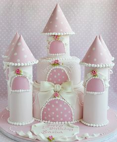 Polka Dot Castle Cake by deborah hwang, so sweet! Baby Cakes, Girl Cakes, Cupcake Cakes, Gorgeous Cakes, Pretty Cakes, Cute Cakes, Amazing Cakes, Love Cake, Cake Creations