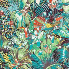 Tissu-Matthew-Williamson-Osborne-and-Little-Samana-Collection-Jungle-Beat