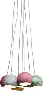 Hanglamp 7 Lichts Bundel Calotta Antico - Retro Designlampen
