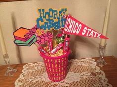center  piece-off to college,homemade