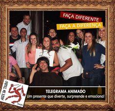 FAÇA DIFERENTE, FAÇA A DIFERENÇA: DÊ TELEGRAMA ANIMADO!  #telegramaanimado 