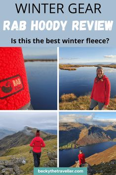 Winter hiking fleece for women. A detailed review of the Rab Hoody, a fleece jacket perfect for winter hiking. Warm weather clothes for hiking | Best hoody for hiking in the UK | Winter clothes | Rab Hoody #rab