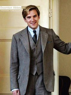 Dan Stevens of Downton Abbey -- he was so happy in this moment and so hot!!