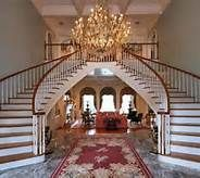 double staircase foyer