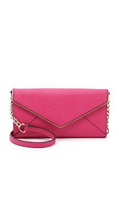 Rebecca Minkoff I Phone- Pyramid Stud S610N001 Laptop Bag,Poppy Pink,One Size, womens