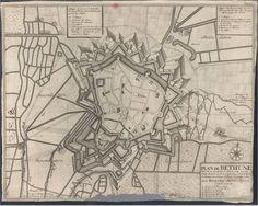 CC_339_V - «Plan de Bethune ville forte du Comte d'Artois…». Haye : Chez Pierre Husson, [1710]. Cota BNP  C.C. 339 V.