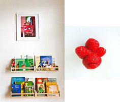 for the kids' books Small Space Storage, Small Bathroom Storage, Bedroom Storage, Dvd Storage, Modular Storage, Ikea Spice Rack, Spice Racks, Best Baby Book, Kitchen Storage Solutions