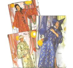 Super Easy Magician Chinese Arabian Caftan Halloween Costume Pattern Burda 3847 S M L XL Halloween Costume Patterns, Halloween Costumes, Burda Patterns, Sewing Patterns, Vintage Costumes, The Magicians, Kaftan, Super Easy, My Etsy Shop