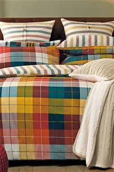 Buy Textured Multi Coloured Check 2 Pack Bed Set from the Next UK online shop