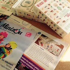 Nous avons mis la main sur un exemplaire papier du Minizou ! Le Professeur a pu le lire au petit-déj' !