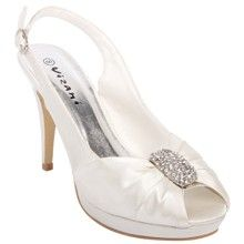 Bridesmaids shoes: Spend-less Shoes - Anna - Ivory, $49.95