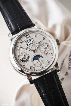 bexsonn:The Langematik Perpetual Calendar Read the Full Post Best Watches For Men, Amazing Watches, Luxury Watches For Men, Beautiful Watches, Cool Watches, Modern Watches, Fine Watches, Men's Watches, Fashion Watches