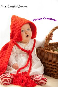 Items similar to little red riding hood baby photo prop crochet pattern on Etsy Post Man, Chunky Yarn, Red Riding Hood, Little Red, Clothes For Sale, Baby Photos, Photo Props, Waiting