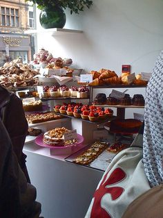 cake shop- Ottolenghi sweets table CAN'T BELIEVE I STUMBLED ON THIS. I used to eat here all the time. The BEST choc chip cookies! In Notting Hill