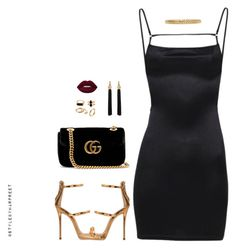 """Night Queen!"" by stylebyharpreet ❤ liked on Polyvore featuring Giuseppe Zanotti, Gucci, Yves Saint Laurent and AMBUSH"