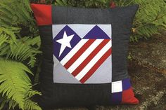Patriotic Star Pillow from Janome