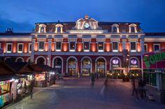 Madrid  antiguo. Estación de Príncipe Pio