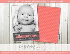 Single Heart Valentine's Day Photo Card : by KMThomasDesigns