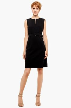 Akris punto Belted Zip Front Wool Dress available at #Nordstrom ESSSENTIAL/BASIC $900