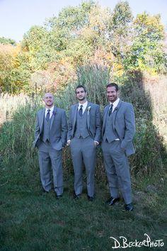 Kevin and his groomsmen at the Barn.  Photo courtesy of @dbeckerphoto.  #barn #barnwedding
