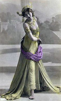 Dutch born Margaretha Geertruida Zelle, or more famously known as Mata Hari. She was an exotic dancer, courtesan, and (wrongly) convicted spy for both the French and Germans during World War 1.