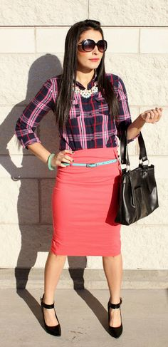 MY SIMPLE MODEST CHIC : Plaid Chic:Making Plaid a little more sophisticated & Preppy