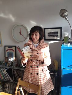 Here's artist Miriam Elia with her book.  Penguin want to ban her book and destroy all the remaining copies.  I don't think they should.  Read more here:  http://hyperallergic.com/116879/penguin-group-targets-artist-over-satirical-art-book/